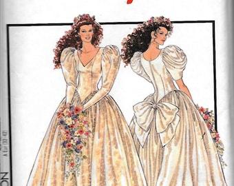 Vintage 90s Style 2751 Wedding Bridal Dress Sewing Pattern UNCUT Size 6, 8, 10, 12, 14, 16