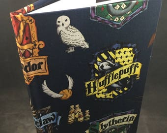 Harry Potter House Crests hand bound journal