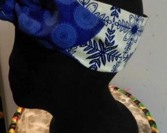 Reversible Ankara Fabric Tie On Headband/Bow Tie