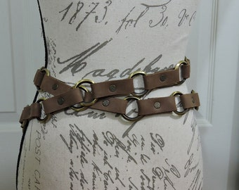 Multi ring belt , Chain Belt, Costume, Steampunk, Larp, Wasteland, Mad Max, Post Apocalyptic, In Stock