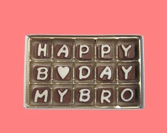 ship AFTER 8/7 Birthday Gift Man Brother in Law Boy Happy B Day My Bro Big Brother Younger Older Little Long Distance Greeting Message Fun C