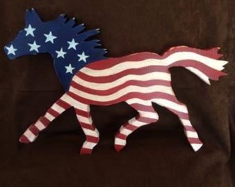 flag horse, flag, stars, stripes, horse, pony, red white & blue, americana