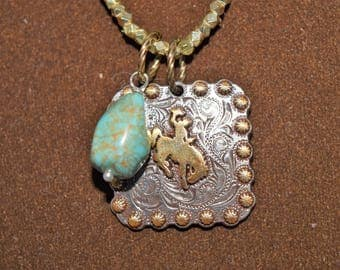 Wyoming Concho Necklace, Rockstar Cowgirl, Cowgirl Necklace