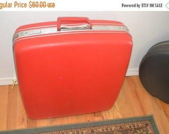 June Savings American Tourister~Vintage Luggage~Red Vintage Luggage~RED Luggage