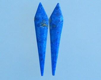 Fashion,Lapis Lazuli,Gemstone Women Earring Bead,51x11x4mm,6.4g(E009)