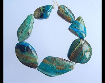 Reserve for Kathy!!!SALE,7 PCS Blue Opal Gemstone Pendant Beads Set,15.9g(SET041)