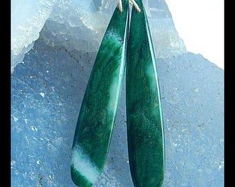 Fashion,African jade,New gemstone earring bead,51x9x4mm,6.3g(E1072)