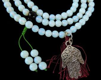 Tibetan Prayer Beads Necklace Baby Moon Mala 33 Inch 118310