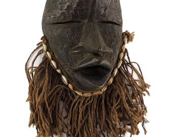 Dan Mask Brass Bearded Liberia African Art 115171