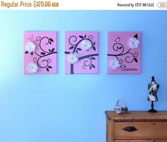 "SALE Swirl Tree  Children Wall Art  3 16"" x 20"" Stretched Canvas OHSC"