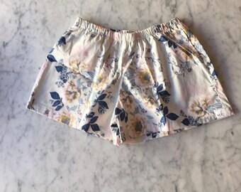 CUSTOM Bridesmaid Boxer Shorts. Womens Pajamas.  Boxer Shorts.  Womens Pajama Pants.  Bridesmaid Pajama Sets. Pajama Set. Blue Posies.