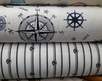 NAUTICAL Sofa throws covers- large couch cloth rectangle coverlet - pet furniture protectors knot stripe compass anchor print duck linen
