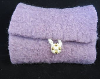 Felted Lavender Crochet Hook Case