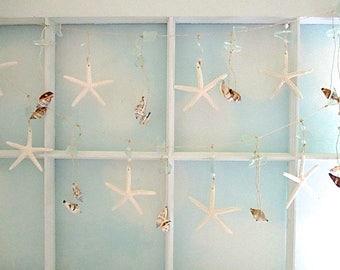 Nautical Starfish/Beach Glass/Shell Garland
