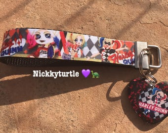 Harley Quinn keychains Wristlet