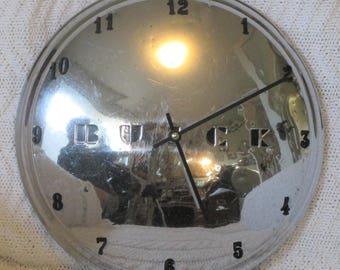 Buick Small Disk Hubcap Clock 1949 - 1950- Dog Dish
