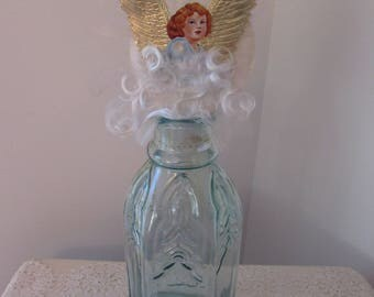 Antique Victorian Christmas Angel Tree Topper
