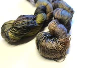 Dazzle mulberry silk hand dyed yarn