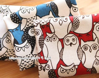 m346_55 - owl fabrics  - cotton linen - Half Yard (  3 colors )