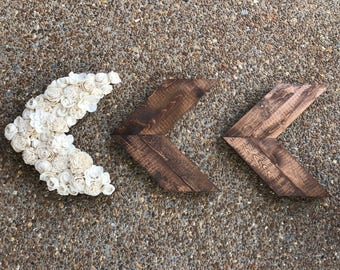 Wood Chevron Arrows- Farmhouse Decor- Rustic Decor- Sola Wood Flower Arrow