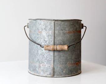 vintage minnow bucket, galvanized pail