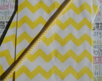 GLAMSALE 50 Yellow Chevron Party Bags, Yellow Favor Bags, Yellow Wedding Candy Bags, Yellow Treat Bags, Yellow Gift Bags, Yellow Candy Bags
