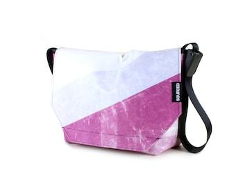 Large Messenger Bag made from Recycled Truck Tarp, Man Bag, Satchel Style Bag, MacBook Bag (61.11)