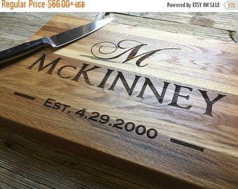 ON SALE Personalized Chopping Block, Engraved Chopping Block - Edge Grain 12x15 - Personalized Wedding Gift, Housewarming Gift, Anniversary
