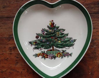 Christmas Tree  Hostess Gift, Trinket Dish, Ring Catcher,  Spode, Made in England