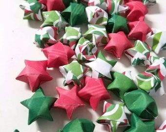 SALE 100 Underneath the Mistletoe Origami Stars
