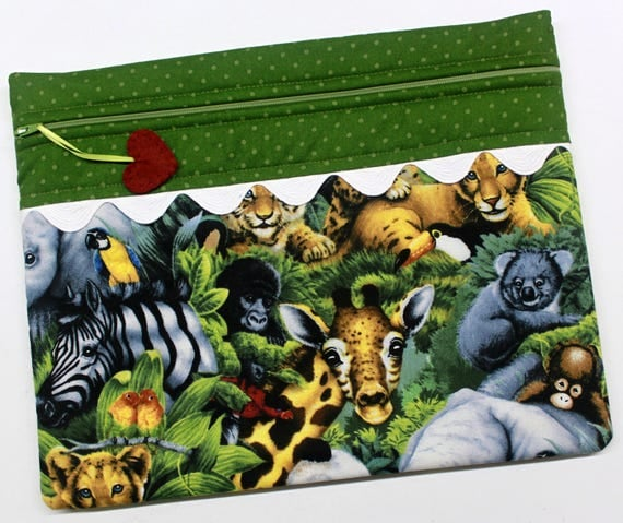 Baby Jungle Animals Cross Stitch Embroidery Project Bag