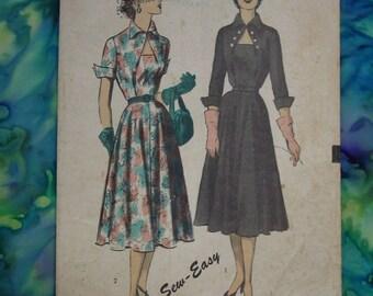 Vintage Pattern c.1950's Advance No.5956 Dress, Size 16