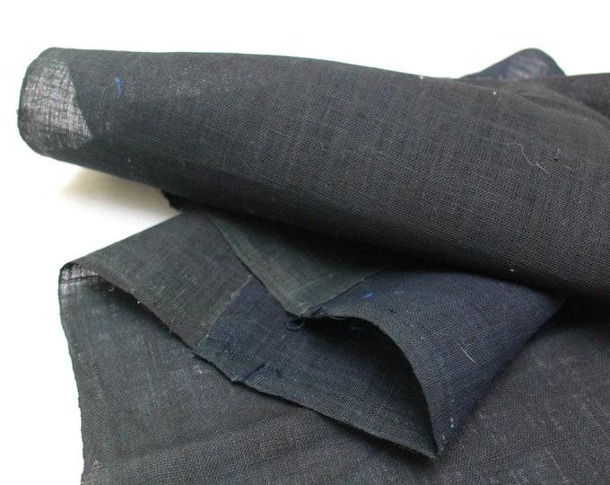 Japanese Indigo Cotton. Artisan Aizome Boro Textile. Blue Vintage Folk Fabric (Ref: 1736)