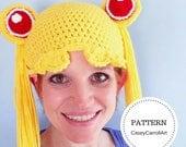 Sailor Moon Hat Pattern   Crochet Pattern   PDF