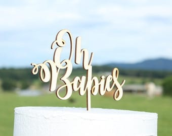 Oh Babies Cake Topper Baby Shower Cake Topper