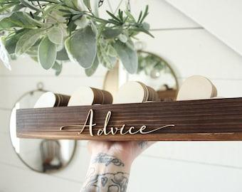 Rustic Advice Box | Rustic Wedding | Advice For The Bride Box | Rustic Bridal Shower