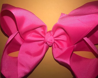 Huge 8 Inch Hair Bow with Alligator Clip