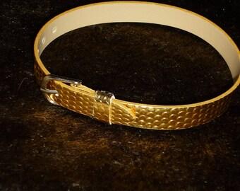 1 gold imitation leather 21 cm bracelet