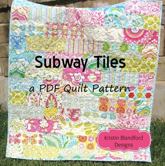 Baby Quilt Pattern Subway Tiles Fat Eighths Simple Fast Throw : brick quilt - Adamdwight.com