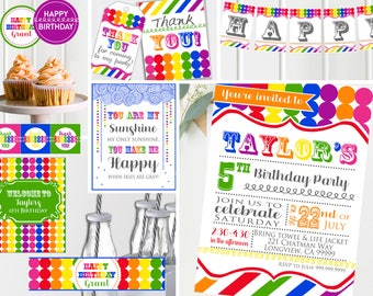 Art Birthday Party | Art Party | Art Birthday Decorations | Art Party Printables | Artist Party | Rainbow Birthday | INSTANT Download