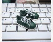 Pre Order; Green Converse for momonita  doll on box. BJD Shoes by Summomo
