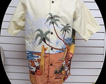 Licenced Walt Disney World Mens tropical Shirt  Medium #541