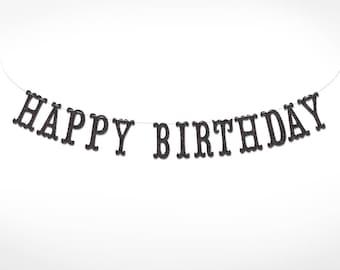 Glitter Happy Birthday Banner  // Party Decorations // Happy Birthday Banner // Birthday Banner // 5 inches //