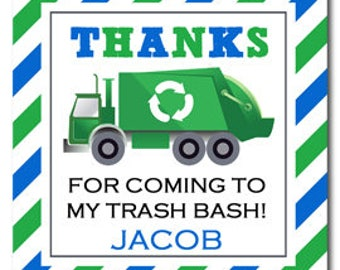 Trash Bash Recycle Tag Printable or Printed with FREE SHIPPING - Trash Bash Collection