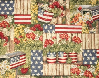 Susan Winget Patriotic Fabric, By The Yard Fabric, Quilting Fabric, Americana Fabric, Sewing Fabric, 4th Of July Fabric, Novelty Fabric