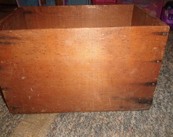 vintage californian prune wood crate box advertising