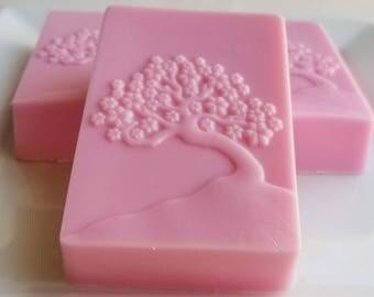 Japanese Cherry Blossom Soap - Tree of Life Soap - Pink Soap - Bonsai Tree Soap - Novelty Japanese Gift Soap - Christmas Stocking Stuffer