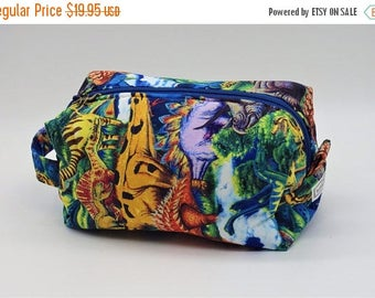 Christmasinjuly CIJ Sale Dinosaurs Toy Bag, Dinosaur Travel Bag, Gadget Bag, Ditty Bag, Toiletry Kit, Pencil Case, Cosmetics Pouch, Go Bag,