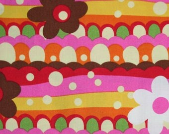 Modern Fabric, Flower Waves, VIP by Needlecraft Fabrics, 74589P