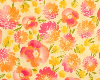 Robert Kaufman Fabric, Mimosa, 10367-193 Summer Pansies